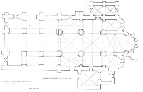 Planta del Monasterio de Palazuelos