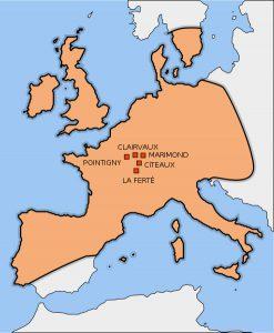 Organización interna máxima expansión de la orden a finales del siglo XIII