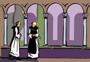 Los miembros de la comunidad monástica. Los monjes