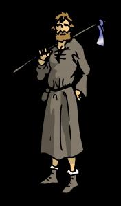 Los miembros de la comunidad monástica. Conversos