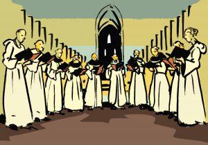 Organización de la vida monacal. Coro