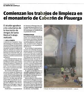 I Jornada de Limpieza de Palazuelos en el Norte de Castilla