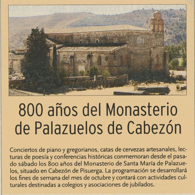 800 Aniversario de Santa María de Palazuelos en el Día de Valladolid
