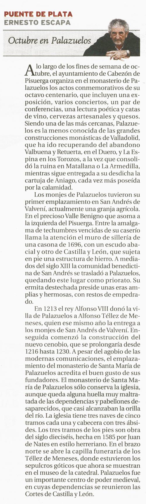 Octubre en Palazuelos por Ernesto Escapa