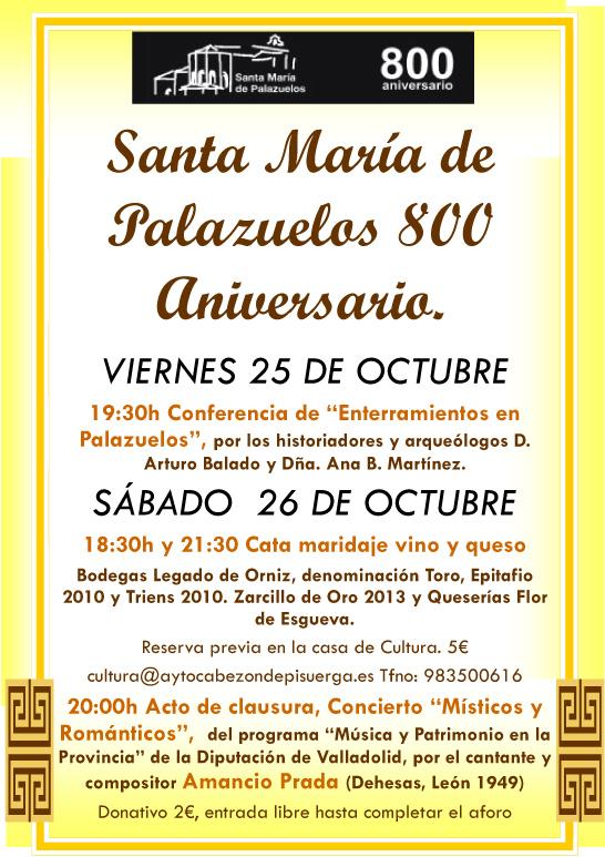 SantaMariadePalazuelosUltimoFindeSemana800Aniversario